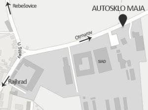 Mapa Autosklo
